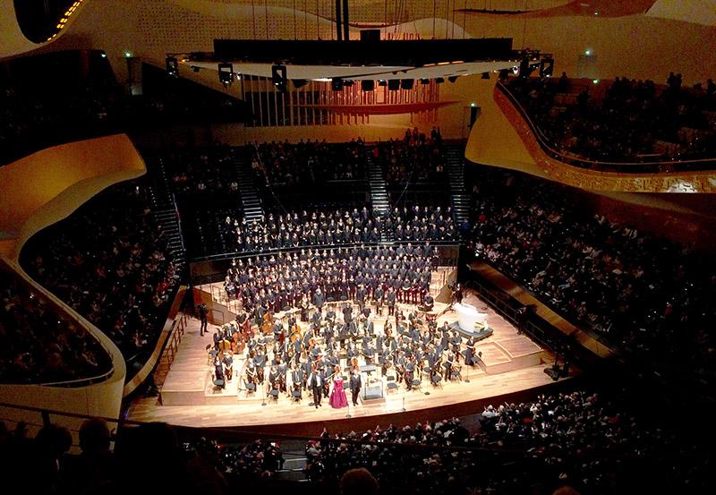 La grande salle de la Philharmonie de Paris